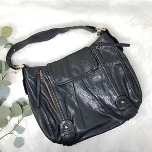 KOOBA Large Leather Hobo Bag